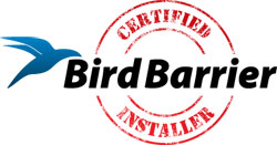 Installation of Bird Barrier humane bird control in Trenton